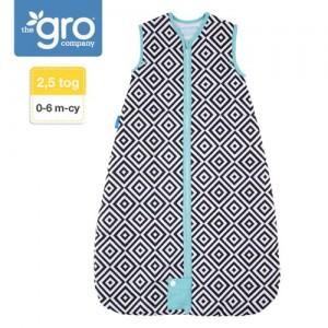 Śpiworek Grobag Jet Diamonds - Travel 2,5 tog,  0-6m Gro Company